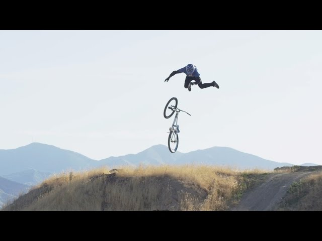 First Triple Backflip on Mountain Bike!