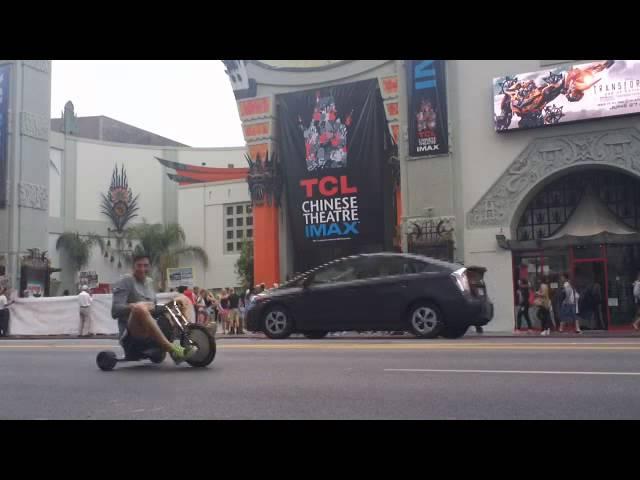 Big Wheel bike ride down Hollywood Blvd