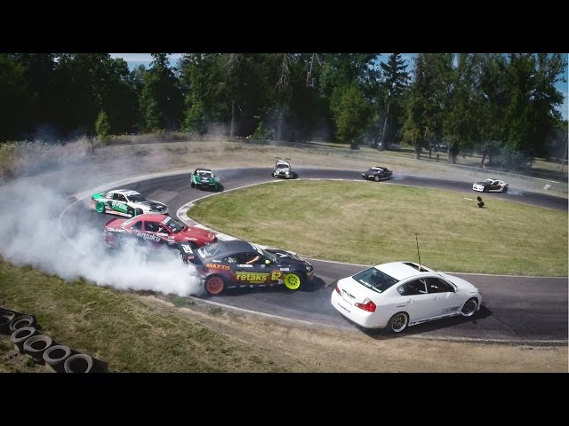 GoPro: Twelve Car Tandem Drift