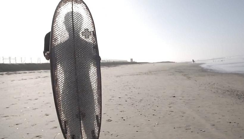 Transparent Cardboard Surfboard