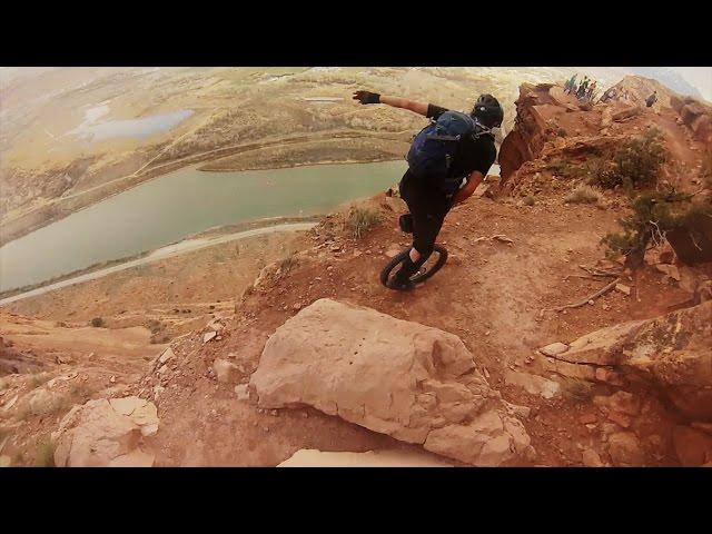 Unicycle Downhill Moab