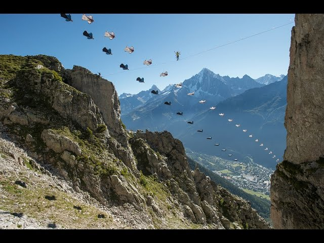 Wingsuit Vs Highline - Best Stunt Record Ever!