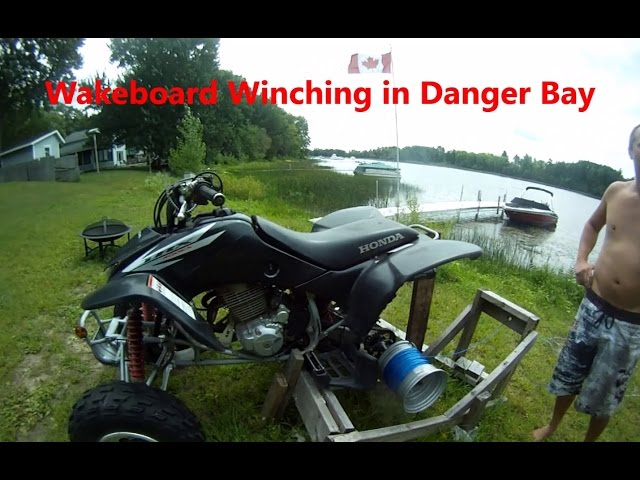 4 Wheeler Wakeboard Winching in Danger Bay