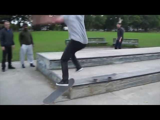 2 board grind Trick by Joe Moore