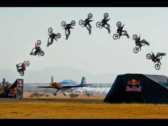 Dirtbike Backflips over Aerobatic Plane