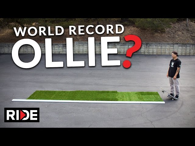 World Record Longest Ollie Broken
