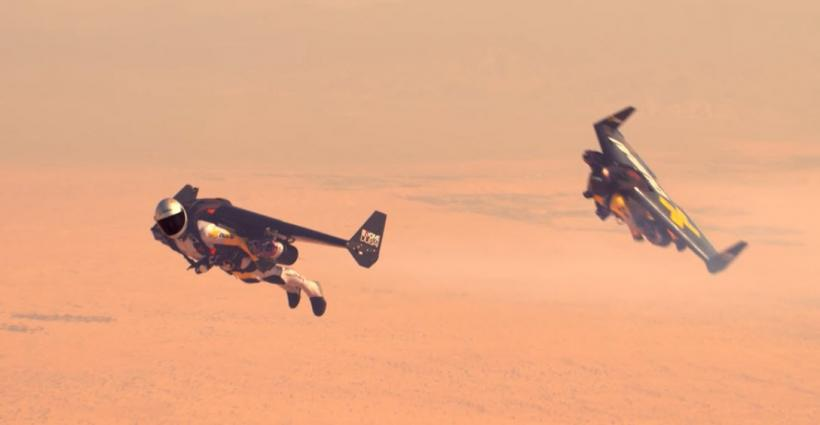 Jetman Aerobatic Formation Flight in Dubai