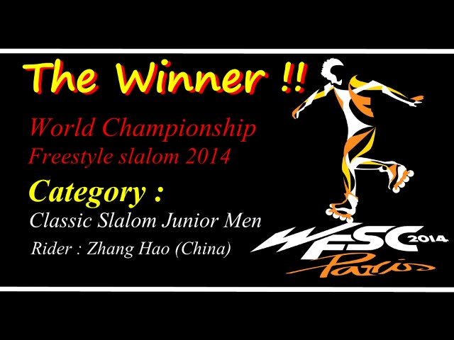 The Winner Freestyle Slalom World Championship