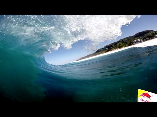 Jamie O'Brien Rocks A GoPro For Pipe Trials