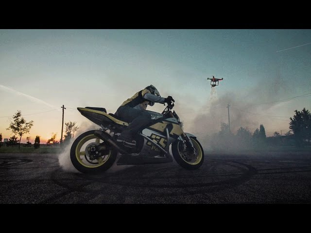 Stuntriding with a drone