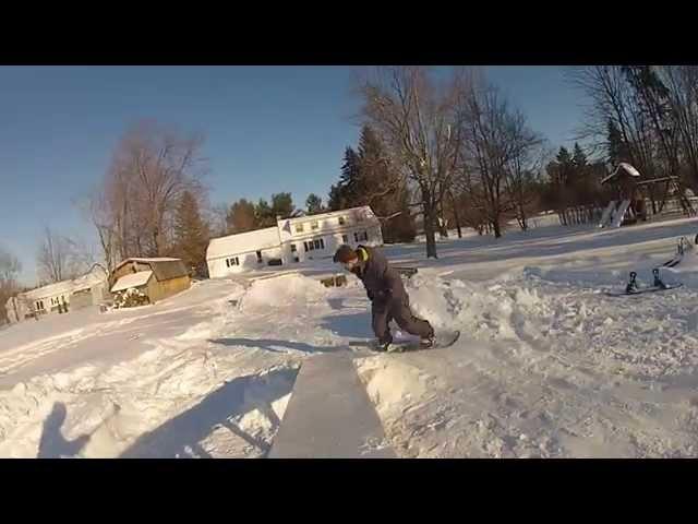 Backyard Snowboard Park