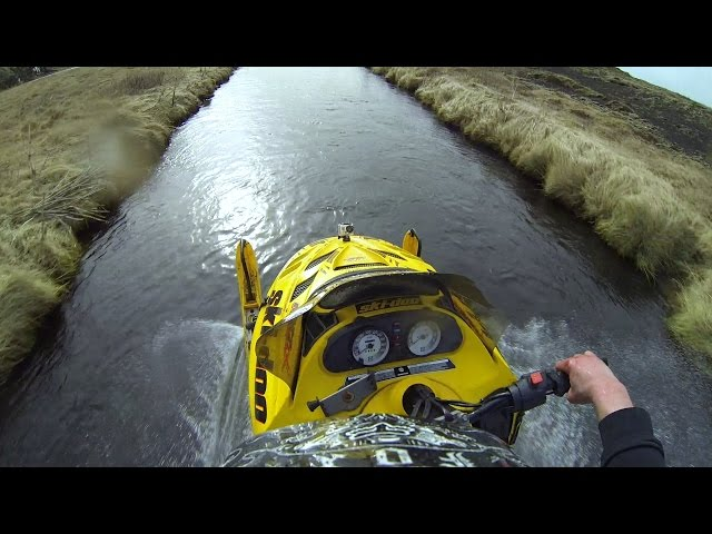 GoPro: Snowmobile Down Rapids in Iceland