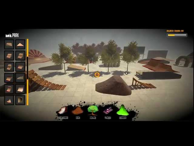 BMX Ride Videogame Park Editor Preview