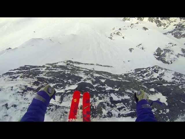 Cliff drop - Our Different Mad Man Skier