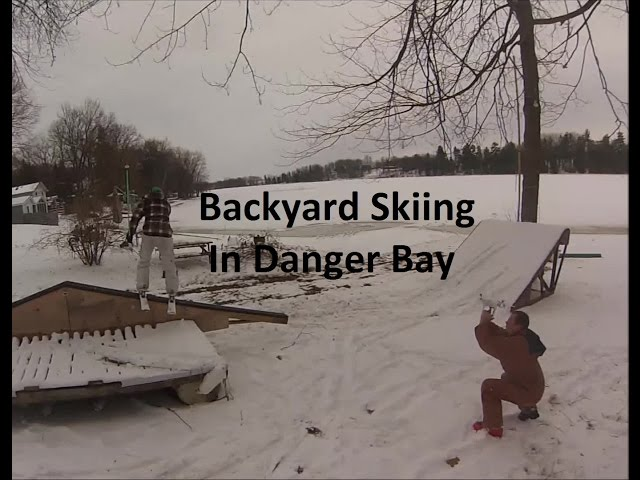 Backyard Skiing Setup Clips