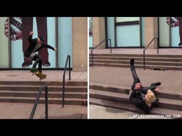 Justin Bieber Skate Fail