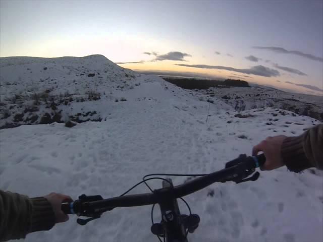 Play in the snow MTB Scotland