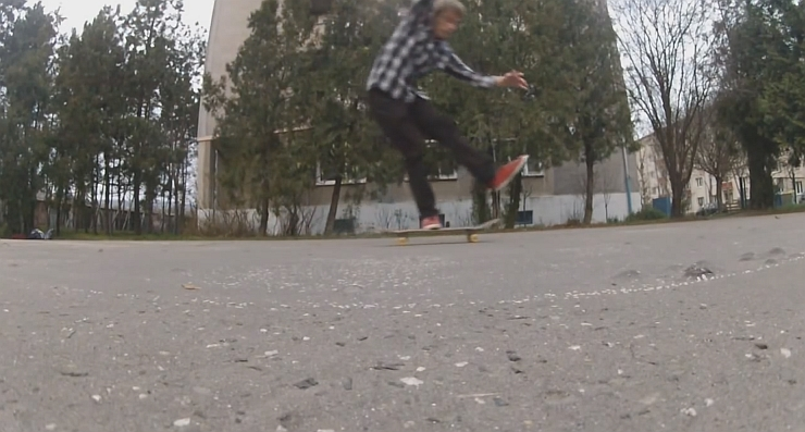 KICKFLIP ONE FOOT LANDING!