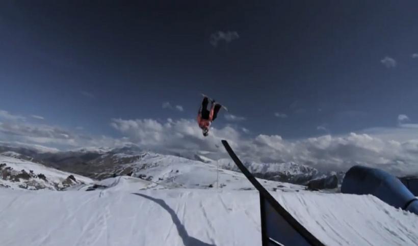 Tyler Nicholson at Snowpark NZ
