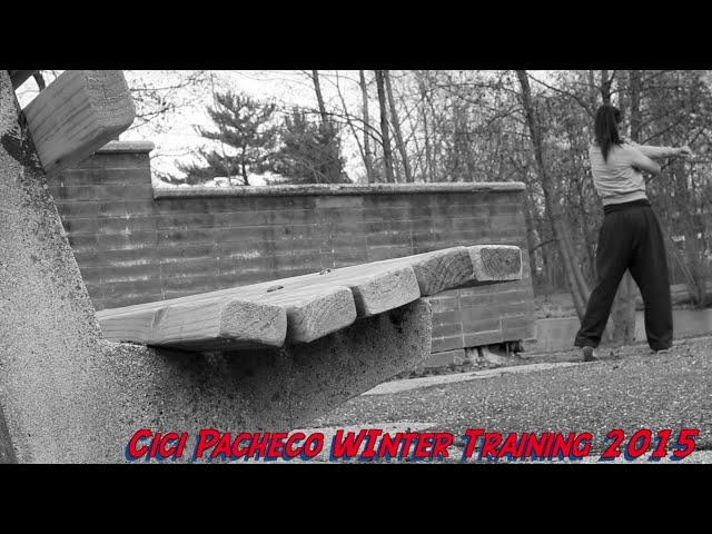 Way too cold Winter training: Cici Pacheco