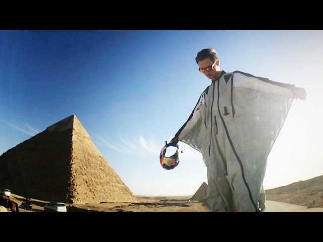 First Ever Wingsuit Flight Over The Pyramids