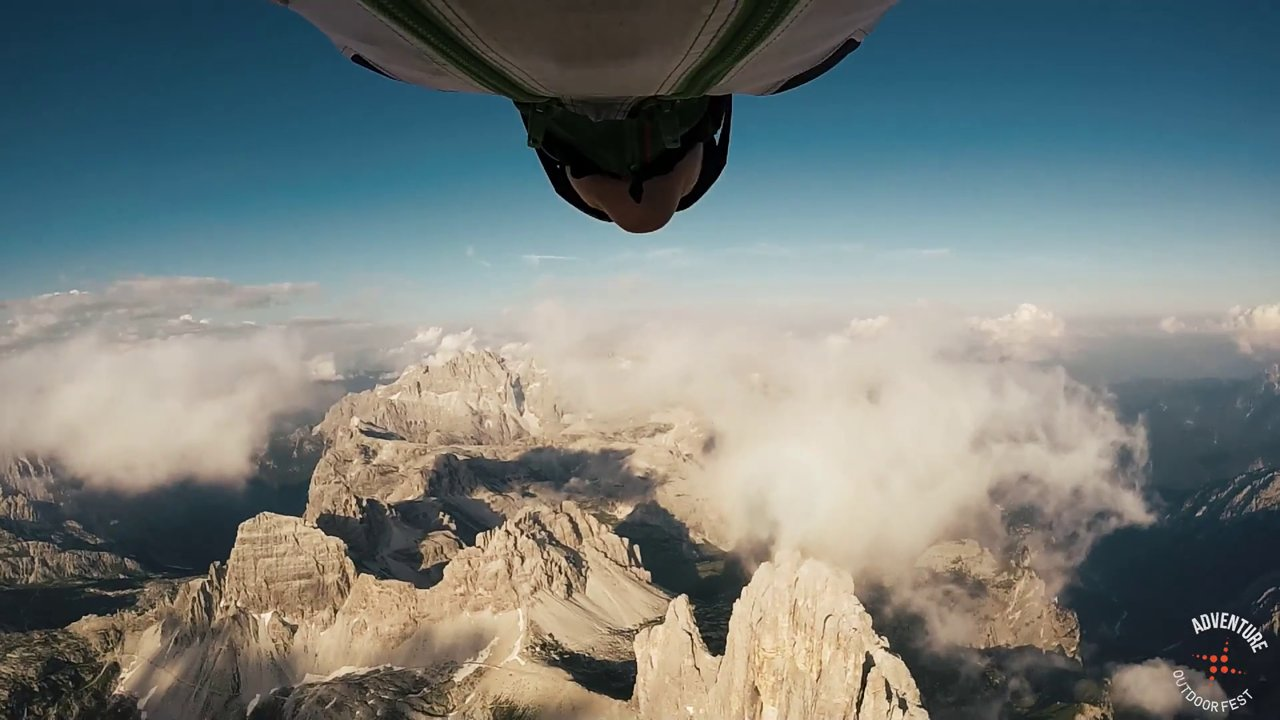 Three Peaks first Wingsuit flight with Steph Davis
