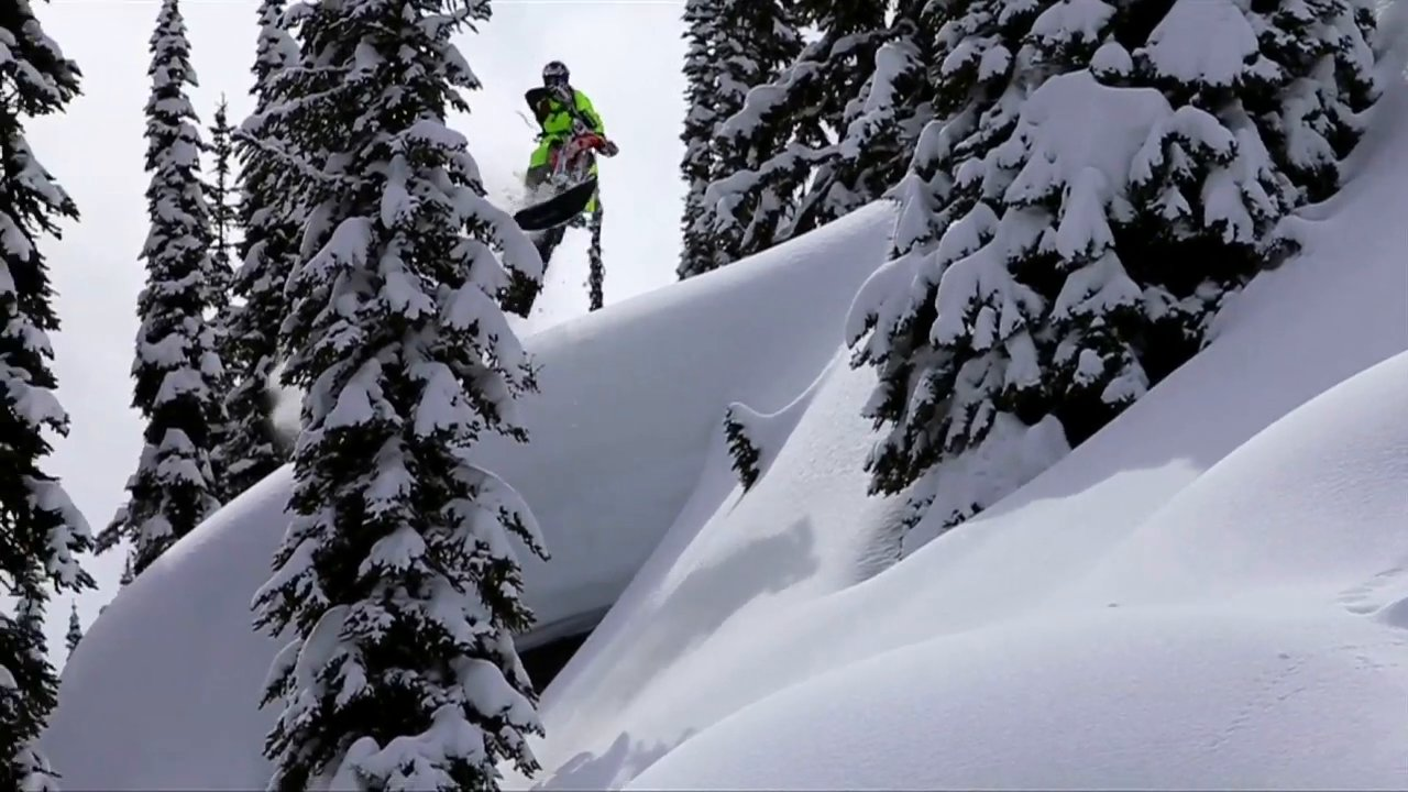 Reagan Sieg Timbersled Snowbiking - Slednecks 2014