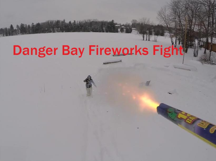 Drone Fireworks Fight