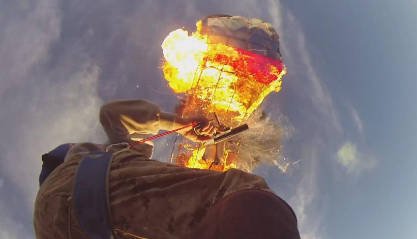 Parachute Explodes In Midair
