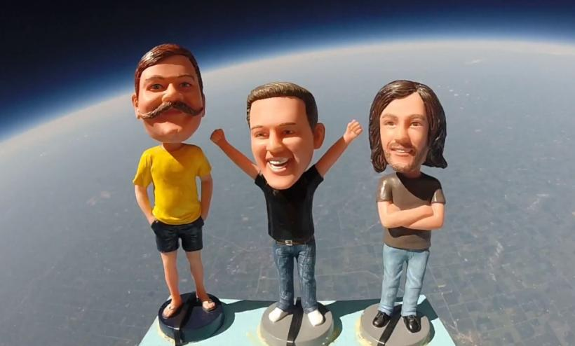 Bobbleheads in Space (GoPro)