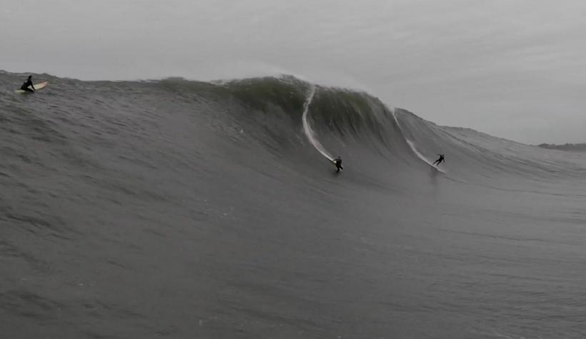 Double Wipeout of the Year Entry at Mavericks