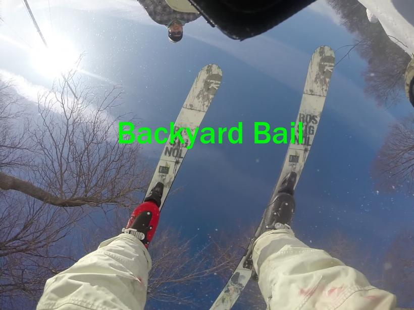 Funny Backyard Ski Bail and Back Switch Up
