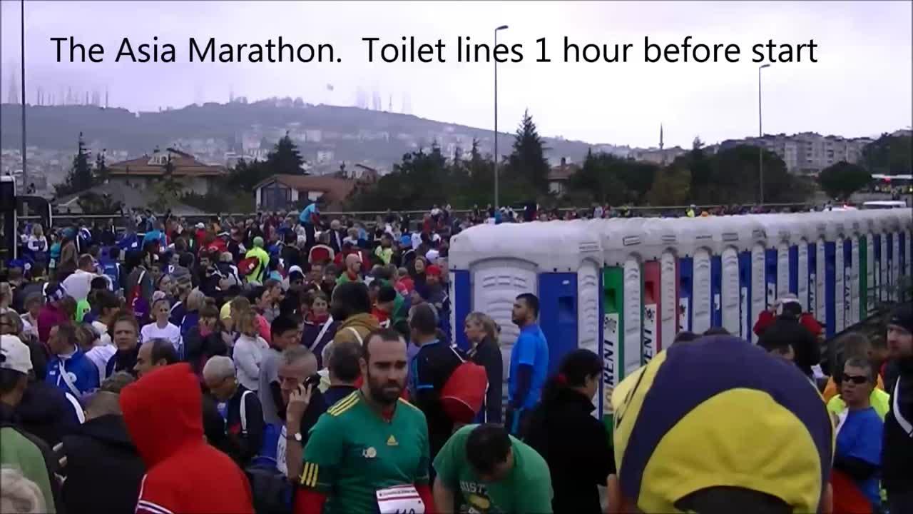 Marathon Race Day Toilet Defecit