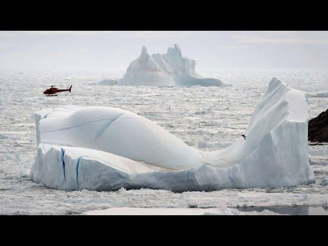Gigi Ruf Riding Icebergs In Greenland