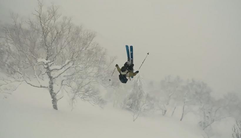 Skier Lands Attempted Frontflip In Tree