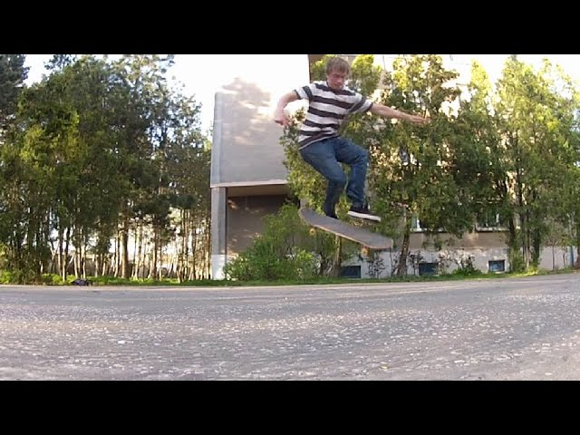 SKATEBOARDING TRICK 1 FAKIE 360 SHOVE IT LATE FLIP