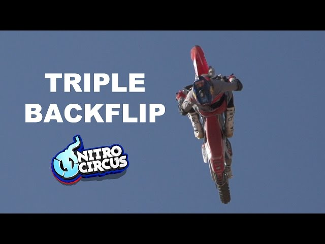 Sheehan's First Triple Backflip on a Motorcycle!!!