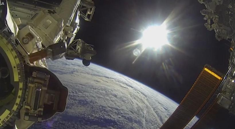 Astronauts Go Spacewalking With GoPro Cameras