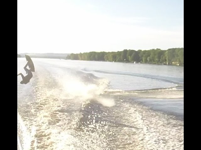 First Tantrum on a Wakeboard