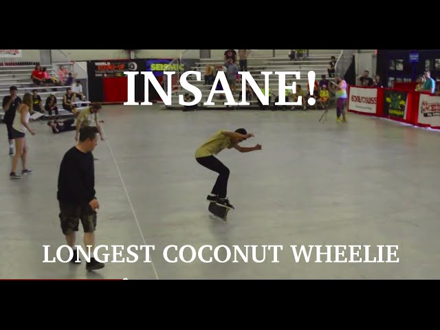 World Record Longest Coconut Wheelie