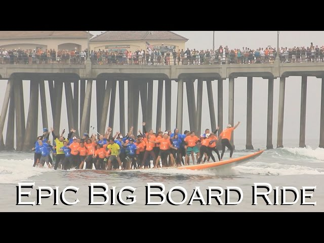 Epic Big Board Ride | Huntington Beach 2015