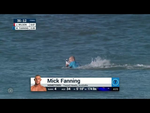 Mick Fanning Shark Attack at J-Bay Open