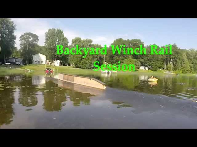 Backyard Winch Wake Rail Tricks
