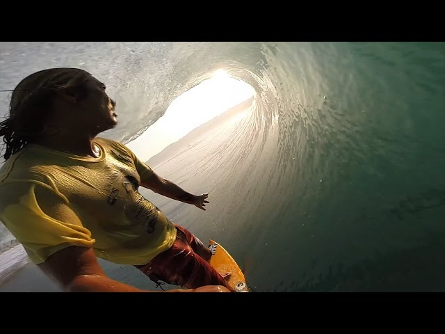 Mikala Jones Sunset Barrel-Slingin'