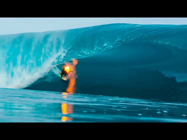 Jamie O'Brien Surfs Teahupoo On Fire