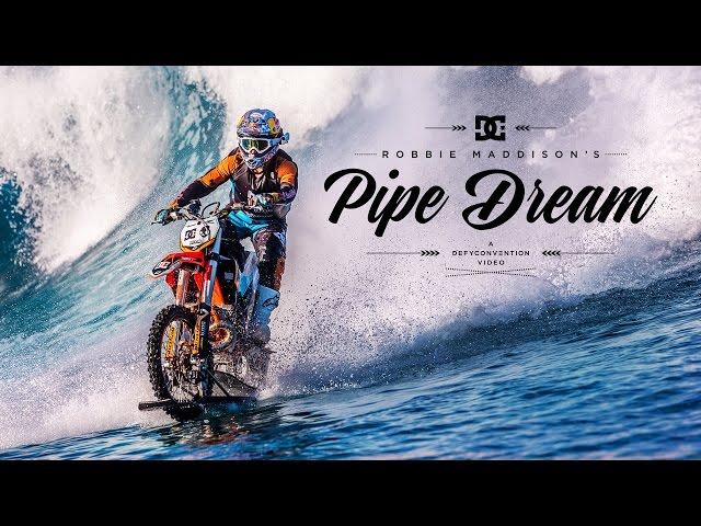 Robbie Maddison Surfs Motorbike in Tahiti