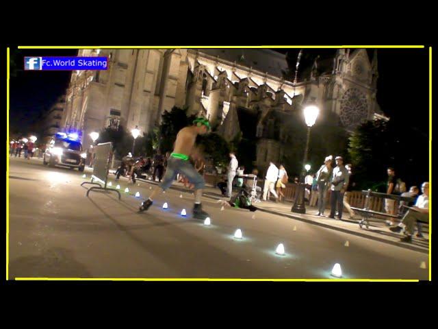 Roller Freestyle Slalom Paris Notre Dame