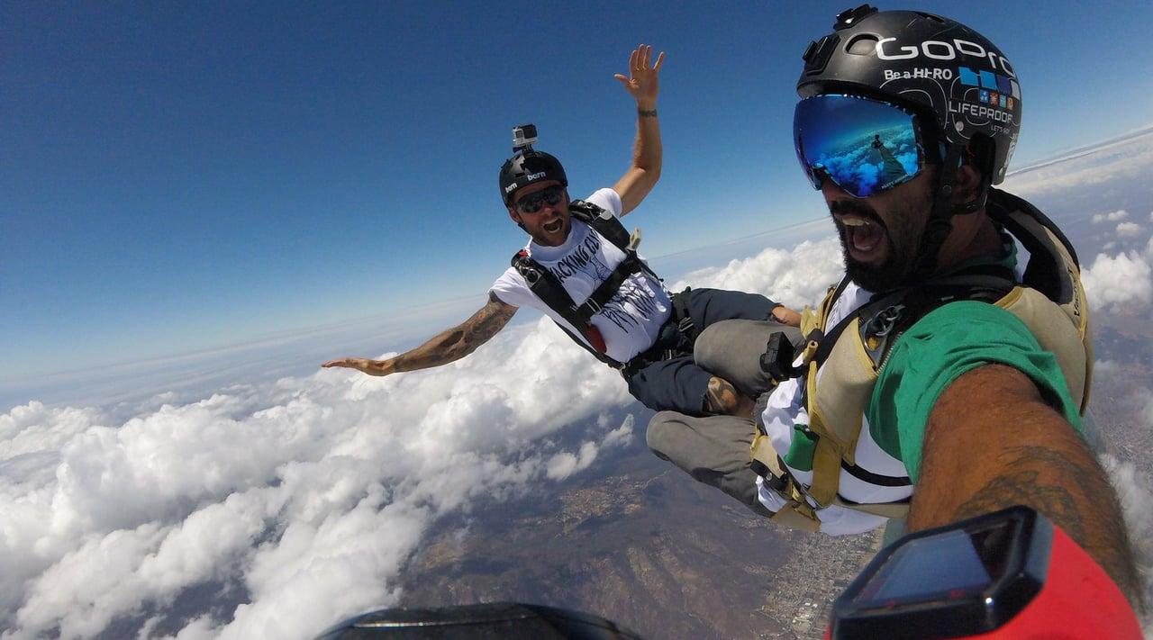 Mike Escamilla Posts GoPro Photo During Skydive