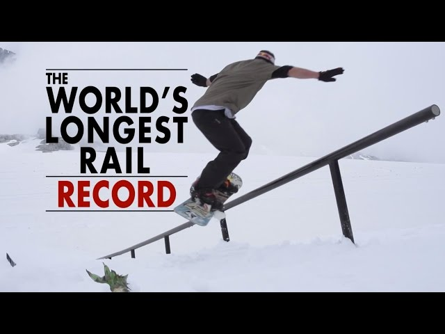 Snowboarding the World's Longest Rail - 84m