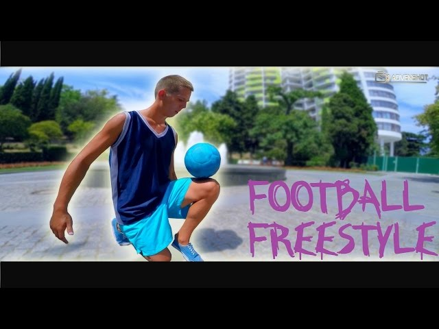 Football freestyle under the sun
